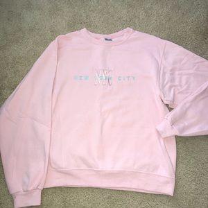 NYC New York City Pink Crewneck Sweatshirt